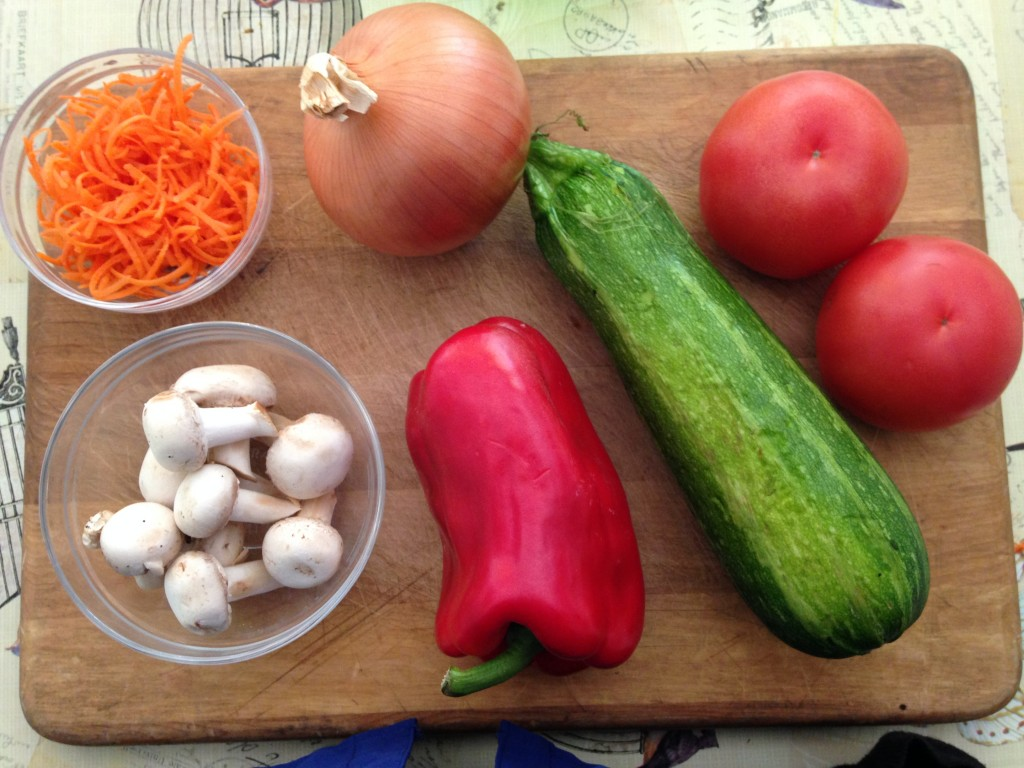 Verduras spaguetti