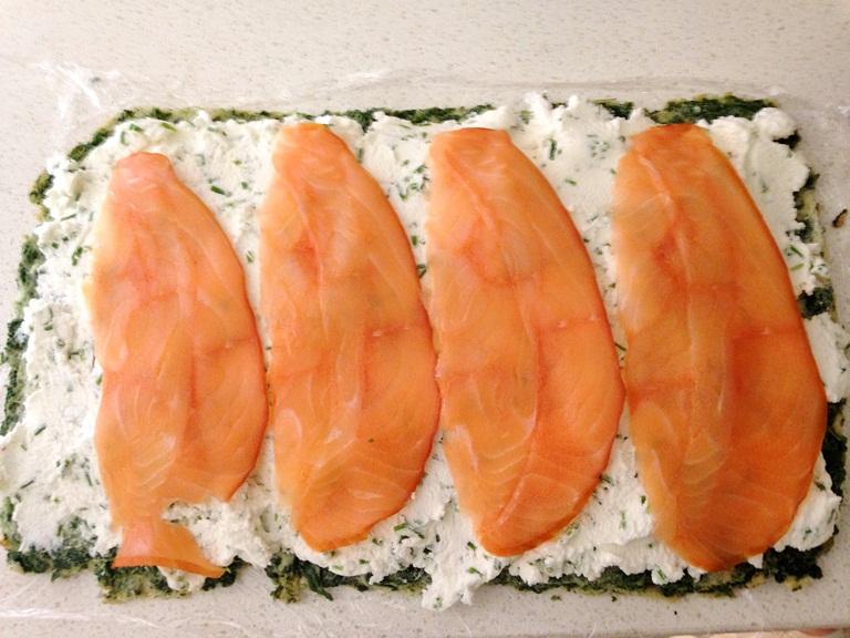 rollo salmón