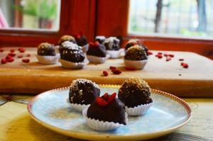 Bombones de Nuez y Chocolate