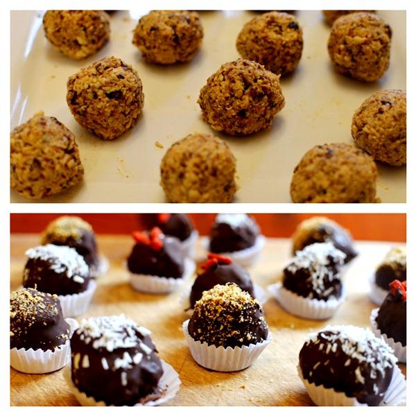 Bolitas de Nuez y Chocolate