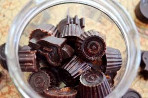 Chocolates Caseros Rellenos.