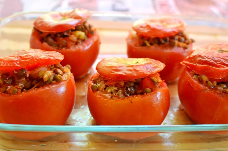 Tomates Rellenos Lentejas