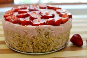 Kuchen de Yogurt y Frutillas