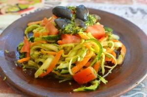 Pasta de Verduras con Pesto
