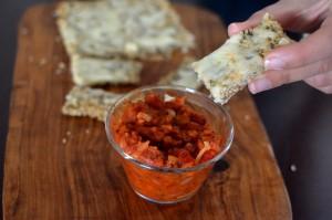 Palitos de Quinoa con Salsa
