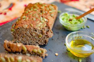Pan sin gluten con semillas.