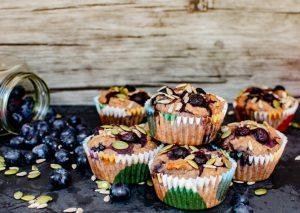 Muffins Arándanos y Semillas