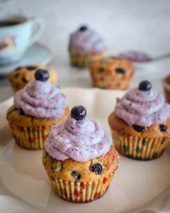 Muffins de Arándanos-Limón