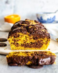 Queque Marmolado Choco-Naranja